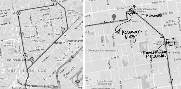 map of May 29, 2015 walk