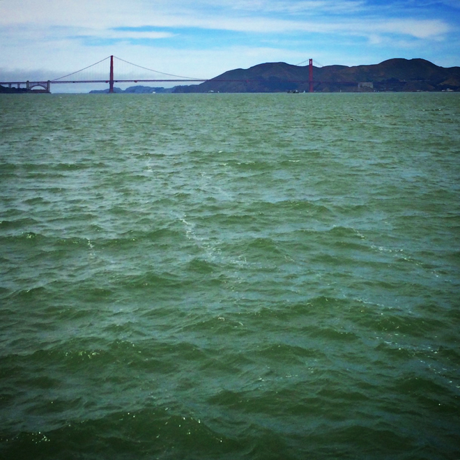 golden gate bridge and the san francisco bay