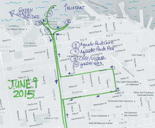map of June 09, 2015 walk
