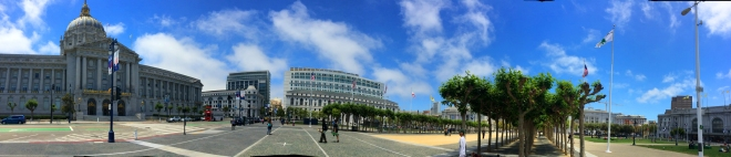 panorama of Civic Center Plaza