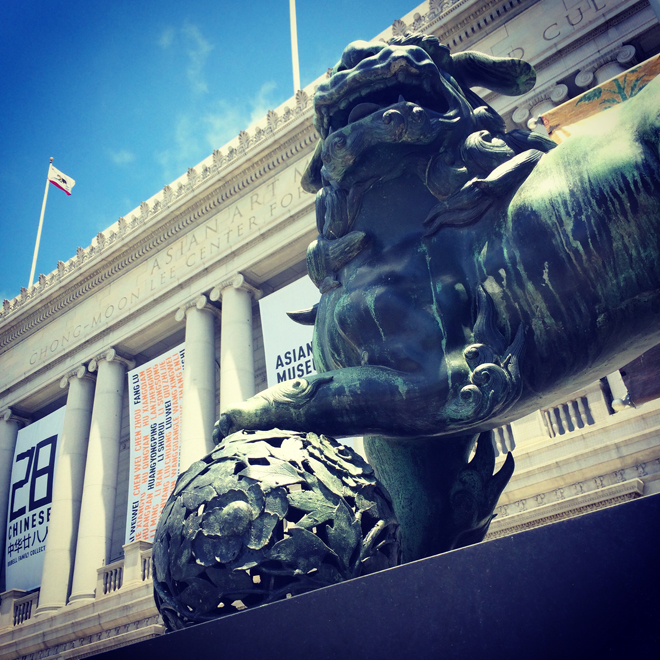 lion outside of Asian Art Museum