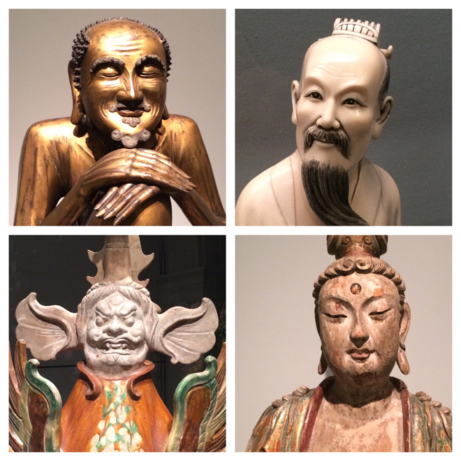 statues in Asian Art Museum