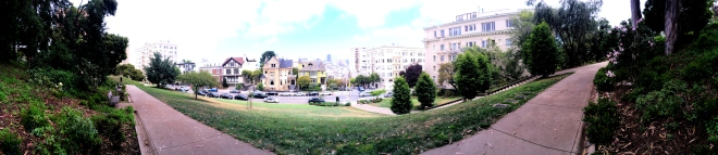 panorama of Lafayette Park