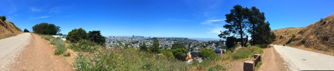 panorama of Bernal Heights Trail
