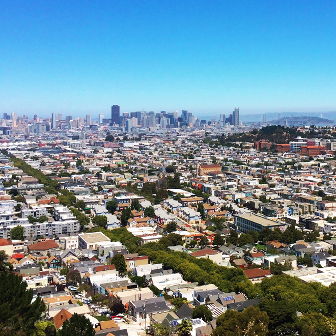 San Francisco view from Bernal Heights