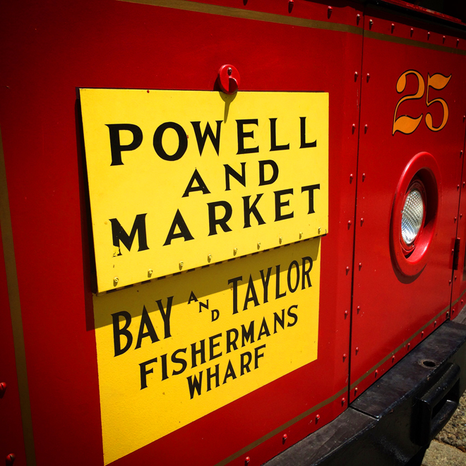 Powell and Market cable car sign