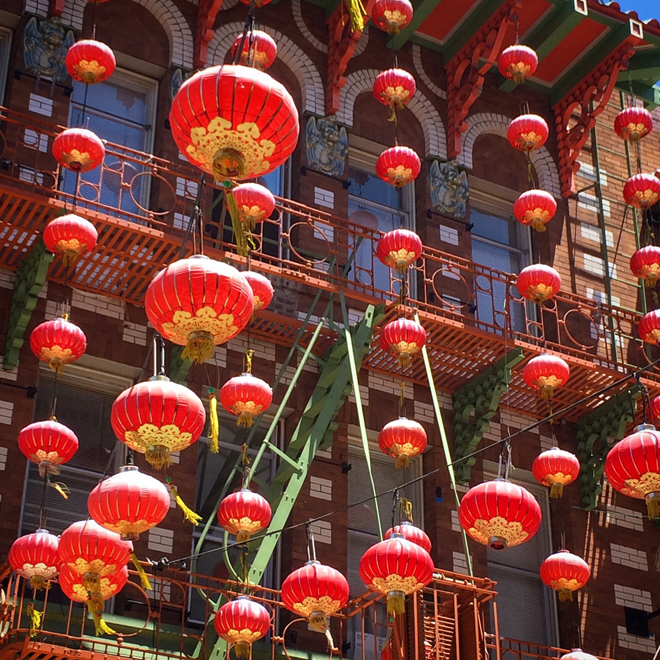 lanterns in Chinatown