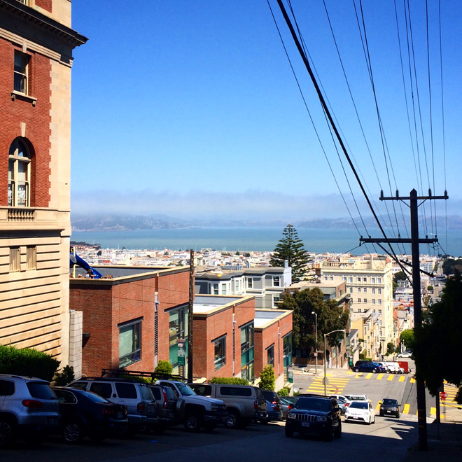 San Francisco Bay from Pacific Heights