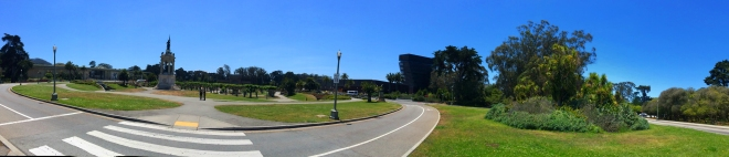 Academy of Science, deYoung Museum panorama