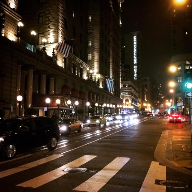Powell Street at night