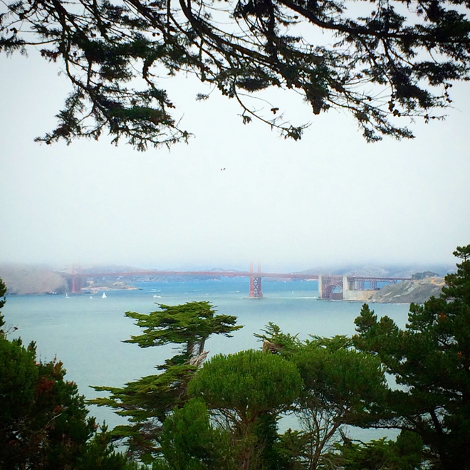 San Francisco Bay and the Golden Gate Bridge from Land's End
