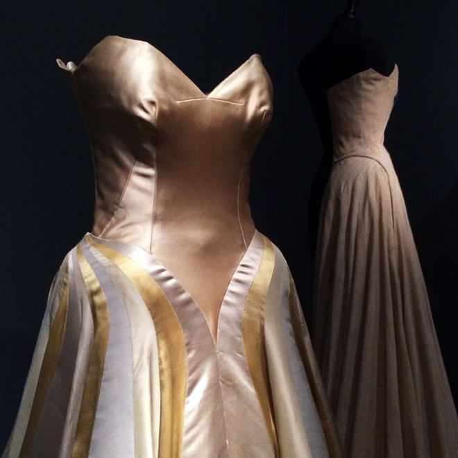 Charles James Ribbon Dress, High Style exhibit, Legion of Honor