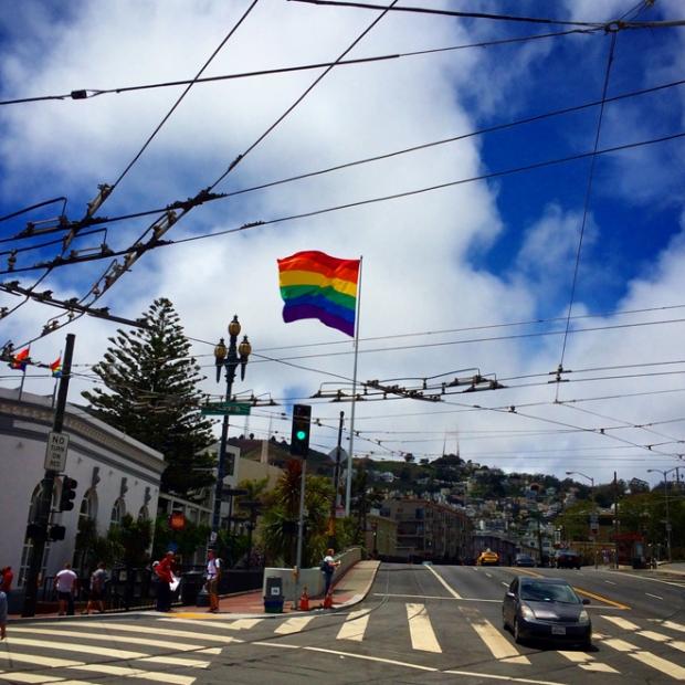 rainbow flag in Castro