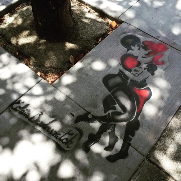 painting on sidewalk