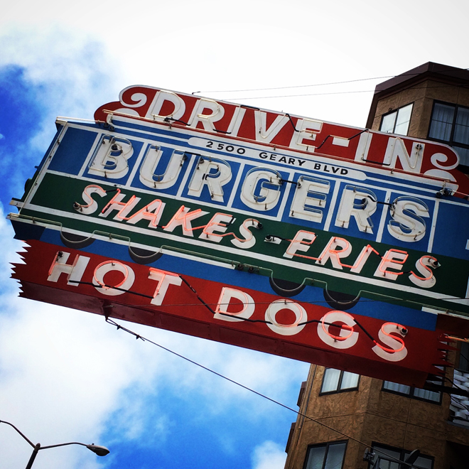 Drive-In neon sign