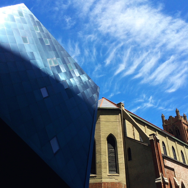 Contemporary Jewish Museum and church