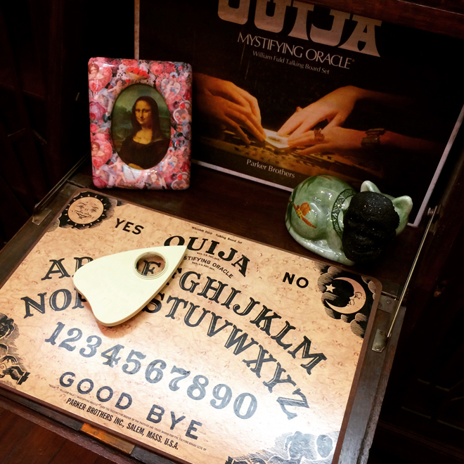 Ouija board in shop display