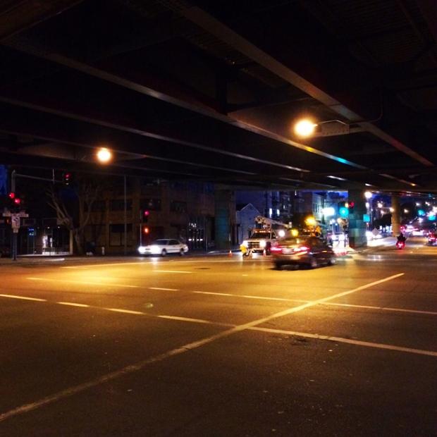 night time street scene