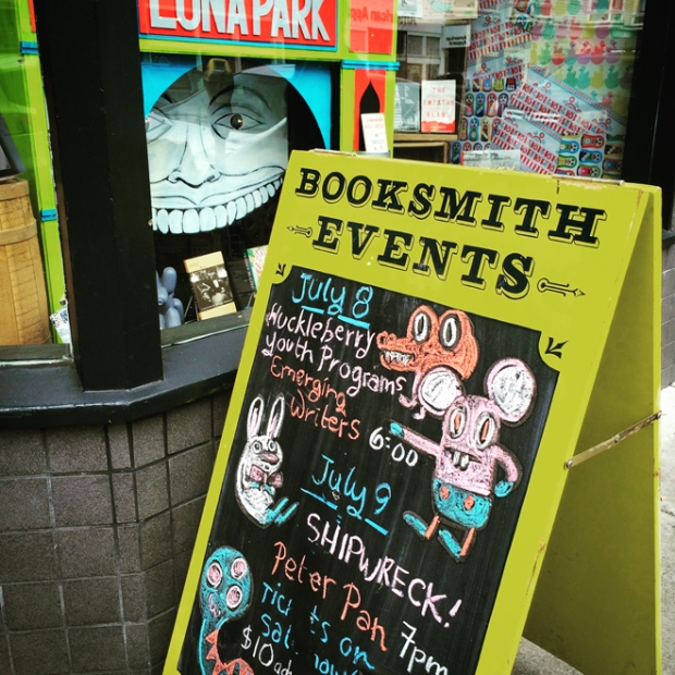 Booksmith sign on Haight Street