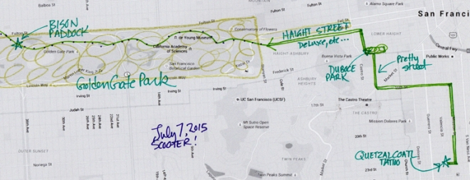 map of July 7, 2015 route