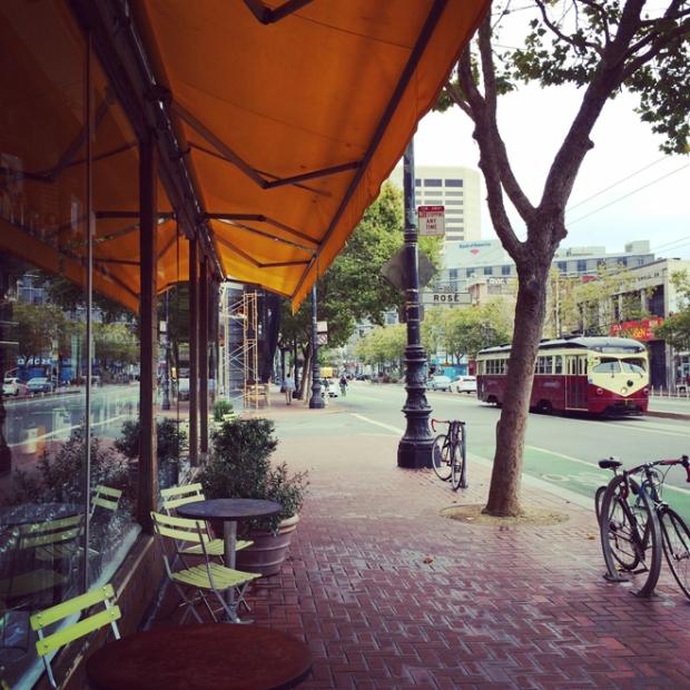 Market Street and street car