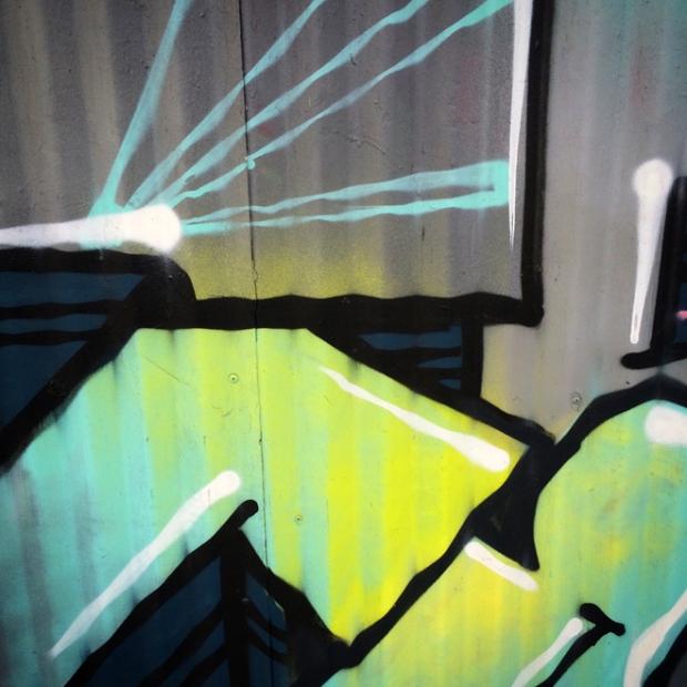 graffiti mural in SoMa - Mission