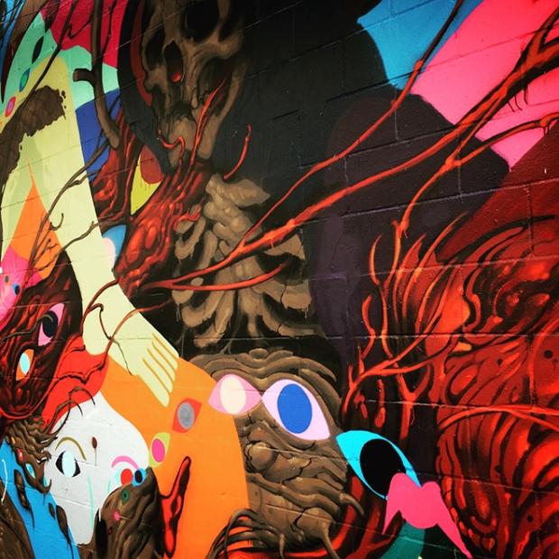 mural in Hemlock Alley off Polk Street