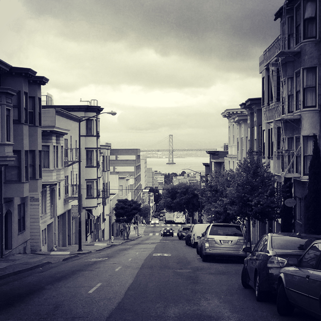 Russian Hill view of Bay Bridge