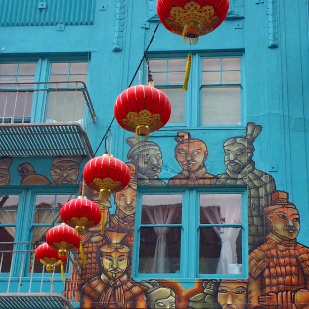 Terra Cotta army mural on Grant Street