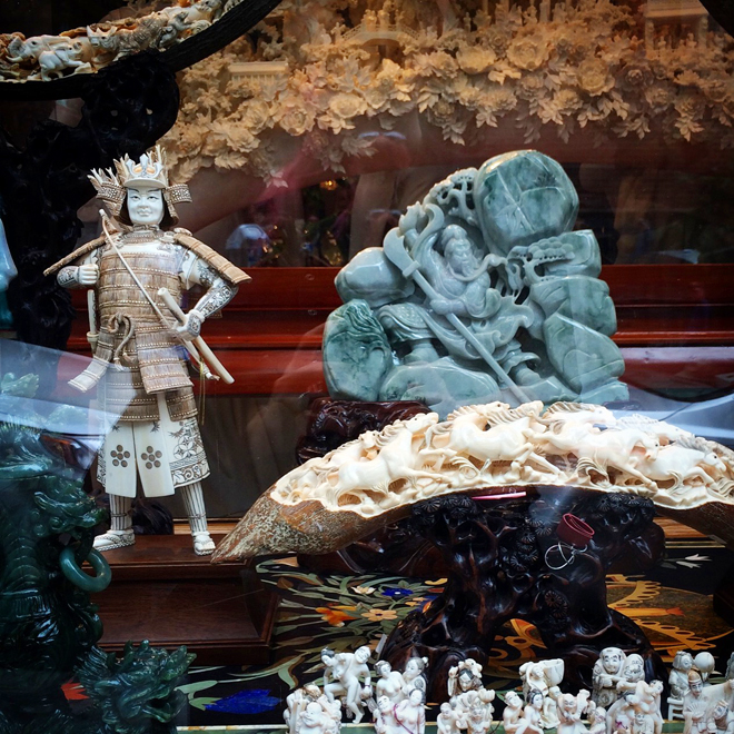 window display in Chinatown
