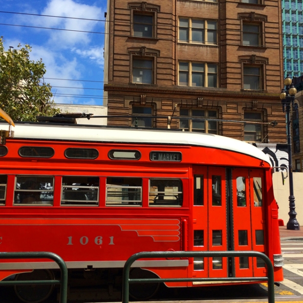 street car and Market Street