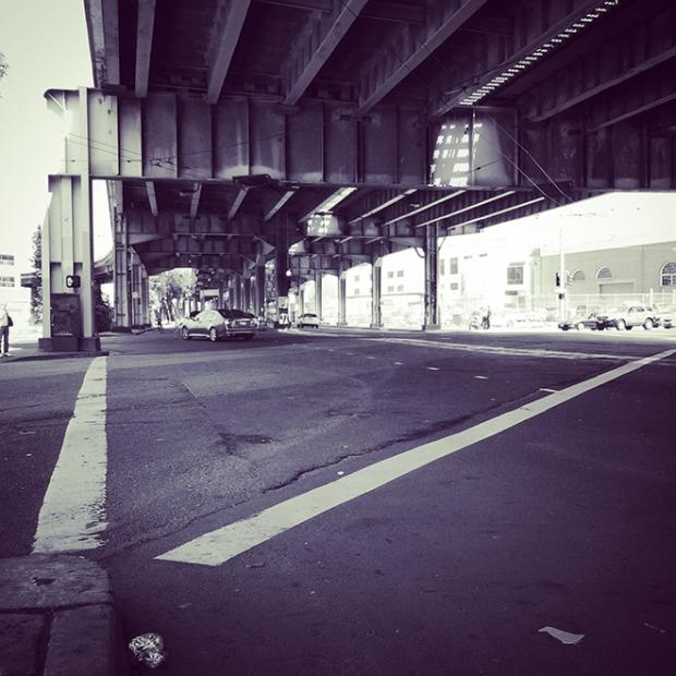 under the freewayy