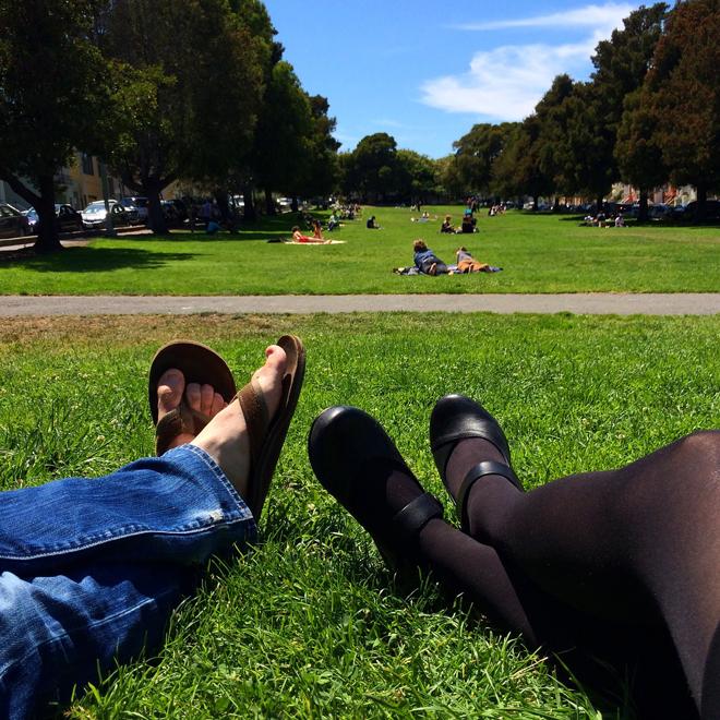 happy feet at Precita Park