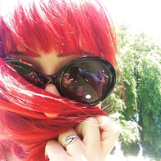 red hair and glasses