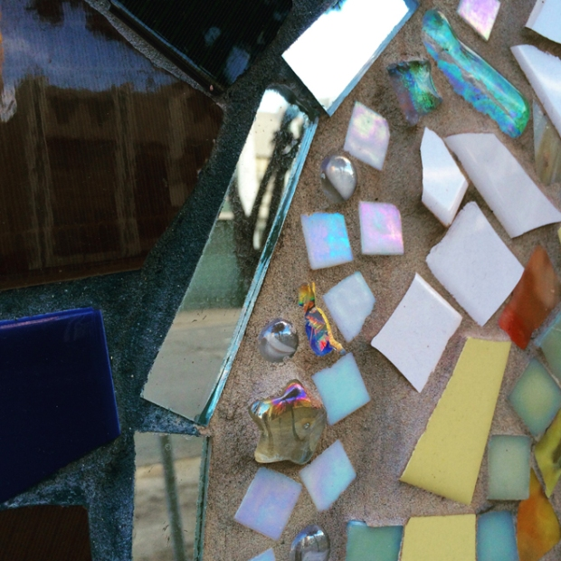 mosaic on Presidio Knolls School building
