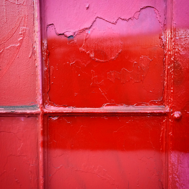 abstract - red door