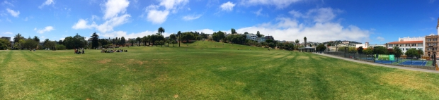 panorama of the north side of Mission Dolores Park