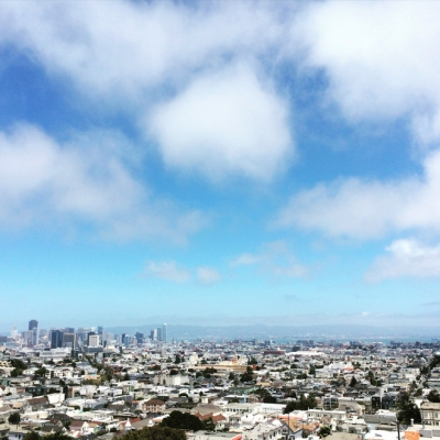 view of San Francisco from the top