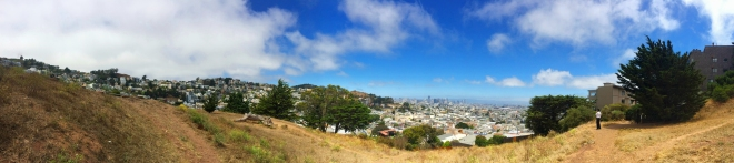 panoramic view of San Francisco from the top of Kite Hill