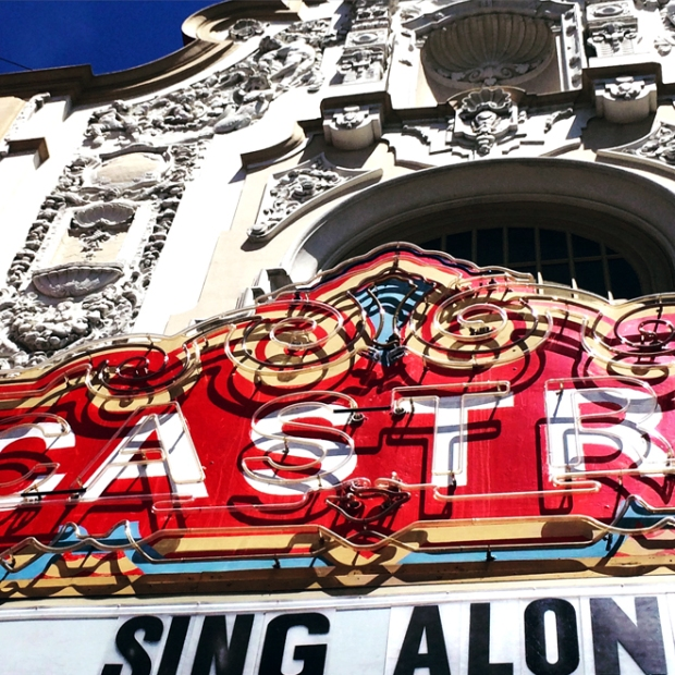 neon sign of the Castro Theater