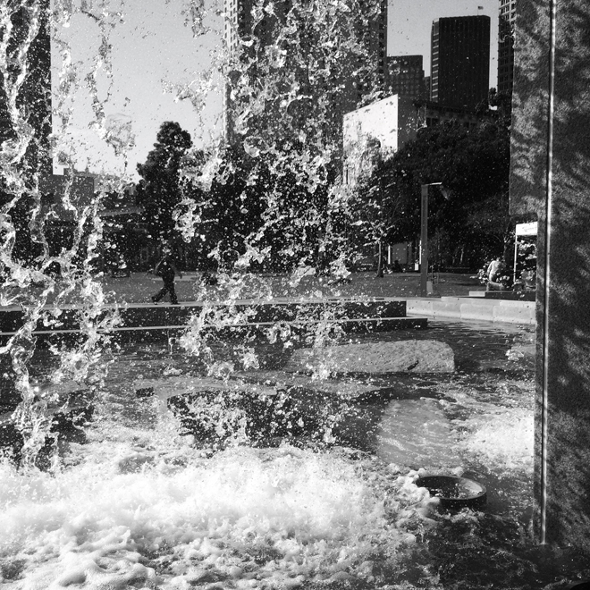 Martin Luther King Memorial Fountains in Yerba Buena Gardens, San Francisco