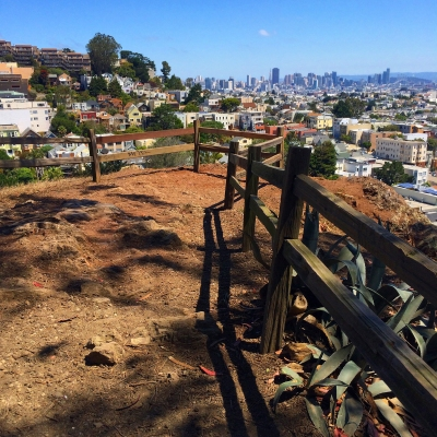 view of downtown San Francisco from Billy Goat Hill Park