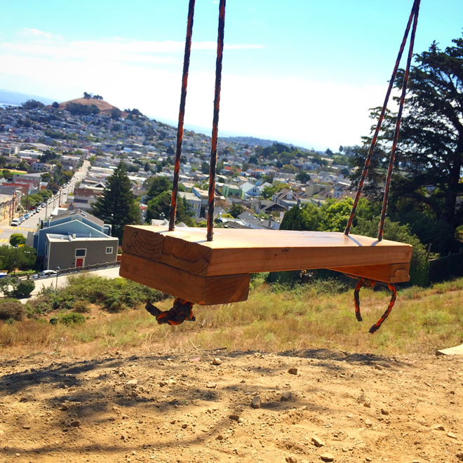 swing at Billy Goat Hill Park
