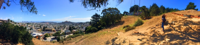 panorama of Billy Goat Hill Park