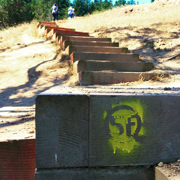 steps at Billy Goat Hill Park