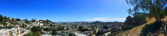 panorama of downtown from Billy Goat Hill Park