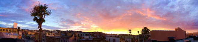 sunset over the Mission District
