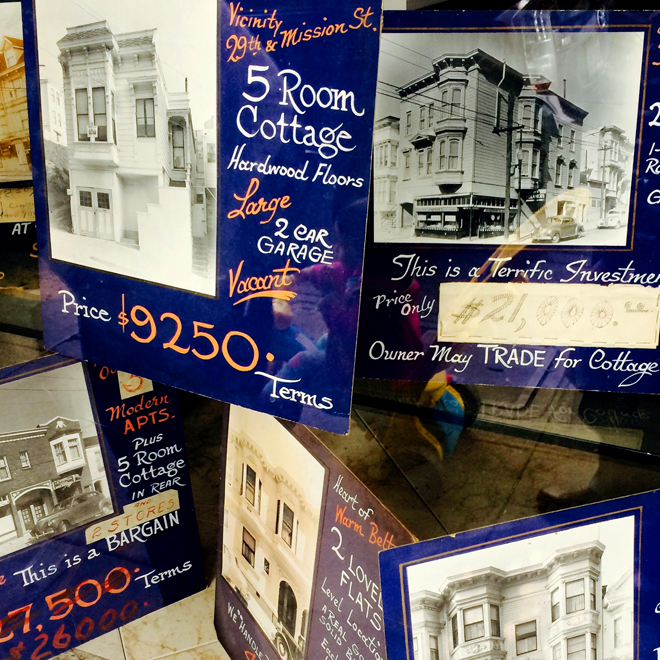 vintage real estate signs