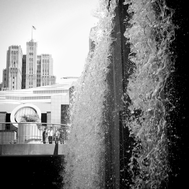Martin Luther King Memorial Waterfall and SFMOMA