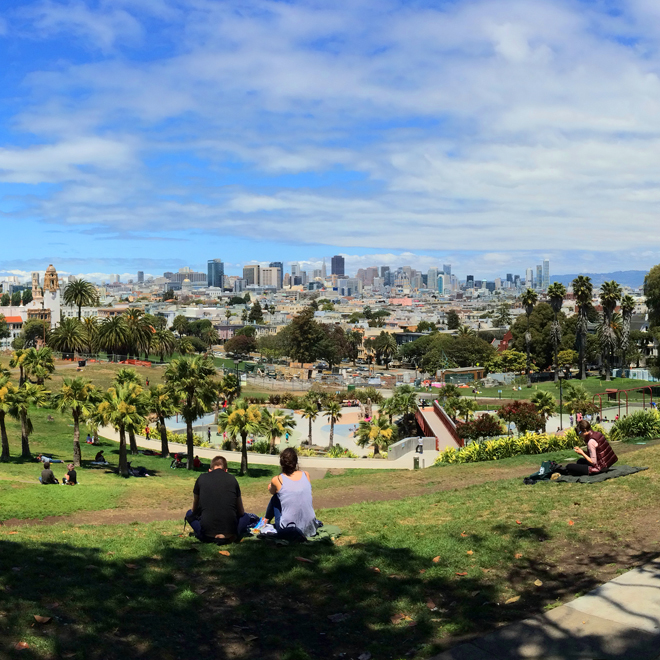 Mission Dolores Park in San Francisco on June 1, 2015 walk